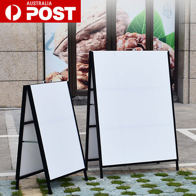 """Double Sided 24"""" x 36"""" A Frame Sidewalk Sign Poster Display Board Portable AU"""