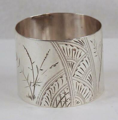Gorham c 1880 Aesthetic Movement Sterling Silver Napkin Ring