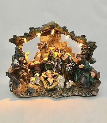 New Large Lemax Nativity Scene With Lights Christian Holidays Religion