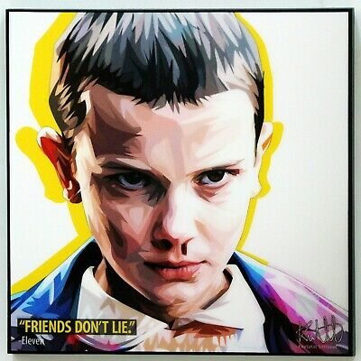 Stranger Things Eleven quotes canvas wall decals painting Framed POP ART poster