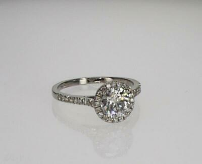 1.75 cts ROUND CUT D/VS2 DIAMOND SOLITAIRE ENGAGEMENT RING 14K WHITE GOLD