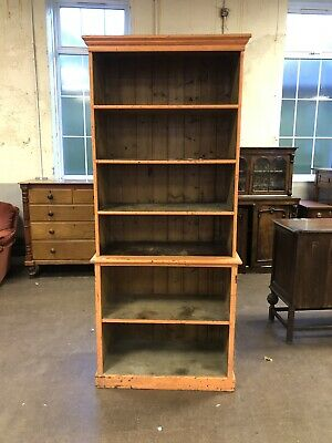 Large Pine Library Bookcase
