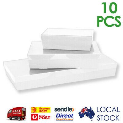 White Corrugated Cardboard Catering Trays/Boxes with Window Lids