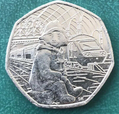 2018 PADDINGTON BEAR 50p COIN AT THE STATION BRILLIANT UNCIRCULATED.FREE POSTAGE