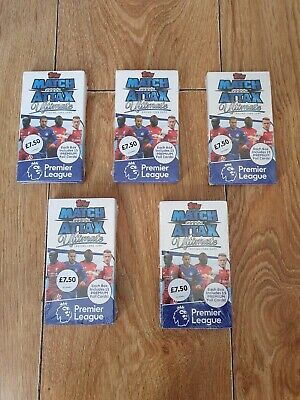 5 X Match Attax Ultimate 2018/19 Premier League 18/19 Sealed Packs / Boxes