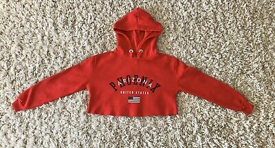 Girl's New Look Red Crop Hoodie!! Age 9 Years!!! RRP £15.99!!!