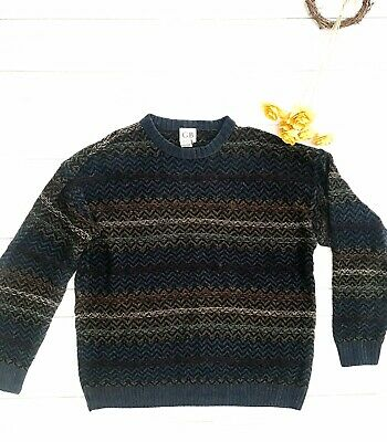 Men's Fossil Aaron Cable Crew Neck Sweater MC2656488 Blue Nights $128 NWT M L XL