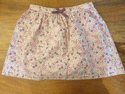 Girls Mothercare Age 24-36 Months Pink Flower Thick Lined Skirt With Elasticated