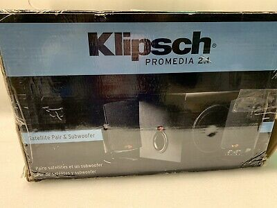 Klipsch ProMedia 2.1 THX Certified Computer Speaker System (Black) - New In box!