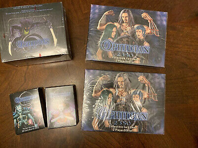 Ophidian 2350 Sealed Collectible Card Game 9 starter deck /& 2 Booster boxes LOT