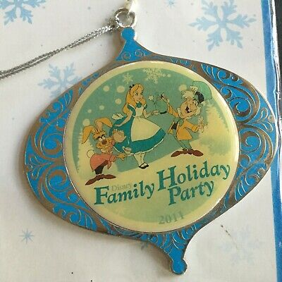 Disney Alice Mad Hatter Hare 2011 Family Holiday Party Christmas Ornament Cast