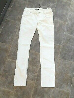 Dkny - Bnwt Girls Winter White Brushed Cotton Stretch Skinny Jeans Age 16 Years