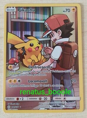 Carta Pokemon PIKACHU FULL ART FUORISERIE 241/236 ECLISSI COSMICA IN ITALIANO