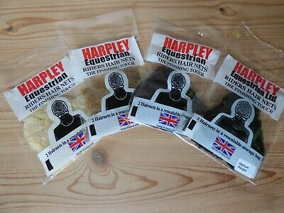 PACK OF 2 HARPLEY LIGHTWEIGHT RIDER HAIRNETS HAIR NET 5 COLOURS AVAILABLE