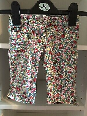 Girls Mini Boden Jeans, Floral, Multi-coloured, 1 1/2 Years