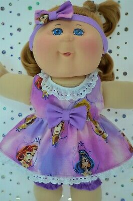 "PlaynWear Dolls Clothes For 14"" Cabbage Patch PATTERN DRESS~BLOOMERS~HEADBAND"