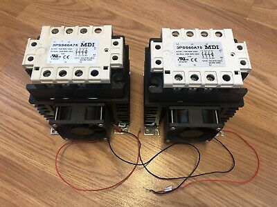 TWO MDI 3PSS60A75 2 or 3 POLE SOLID STATE RELAY WITH FAN 75 AMP