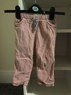 Girls Baby Boden Trousers, Cord, Pink, 2-3 Years
