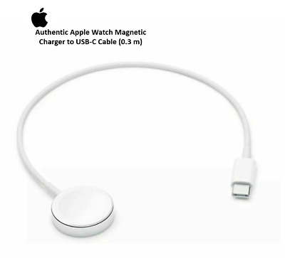 Authentic Apple Watch Magnetic Charger to USB-C Cable (0.3 m) A2055 MU9K2AM/A 🖤