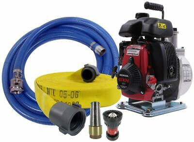 Koshin Firefighting Pump Kit with 100' Attack Hose and Foot Valve