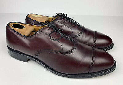 ALLEN EDMONDS PARK Avenue Cap Toe Oxford Oxbood Leather Men