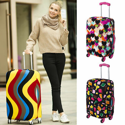 "Travel Luggage Cover 18-20"" Elastic  Nonwoven Dust-Proof Bag Suitcase Cover"