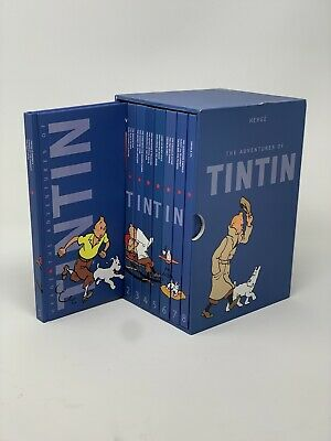 Herge The Complete Adventures of TINTIN 8 Books Like New Condition Fast Shipping