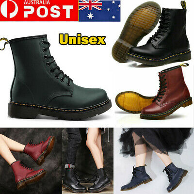 AU Unisex 1460 8 Lace Up Leather Boots Shoes Martins Men Women Shoes Size 36-46