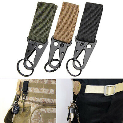 Z9A4 Tactical Nylon Webbing Buckle Key Water Bottle Holder Hook Carabiner Clip