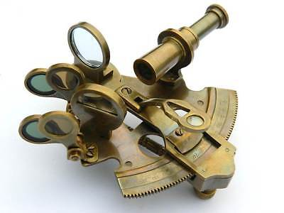 Solid Brass Sextant-Nautical Gift-Astrolabe Handmade Brass Sextant Working