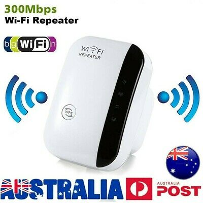 300Mbps WiFi Repeater Signal Booster Amplifier Router Wireless Range Extender AU