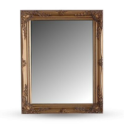 BAROQUE STYLE WALL MIRROR | gold, wood | antique pier glass
