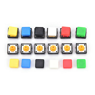 20PCS tactile push button switch momentary micro switch button + tact cap JC xh
