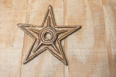 Antique Architectural Decorative Cast Iron Barn Stars 6""