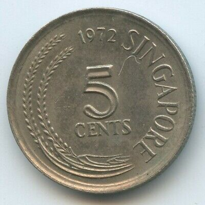 Singapore 5 Cents 1972 Coin