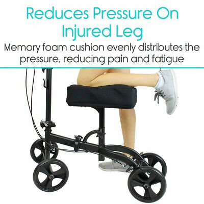 Knee Walker Pad Cover - Featuring Memory Foam For Relieves Pain Comfort Cushion