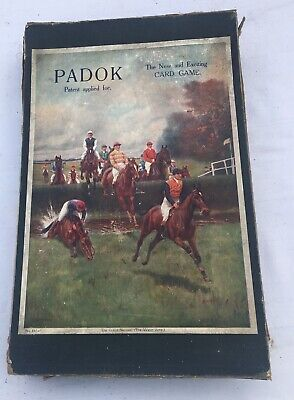 Extremely Rare 1920S Jaques Prototype Horse Racing Card Game Padok