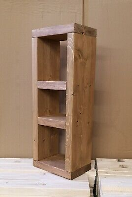 80 cm Cube Style Bed Side table Lamp Hall Coffee Chunky Rustic - Handmade