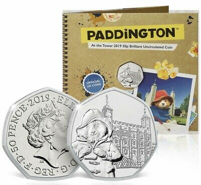 NEW 2019 Royal Mint 50p Fifty Pence Paddington at the Tower BU Coin Pack BUNC