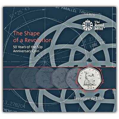 NEW 2019 Royal Mint 50p Fifty Pence 50 Years of Britannia BU Coin Pack BUNC