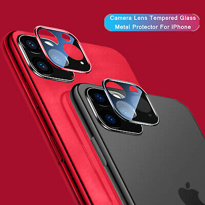 For iPhone 11 Pro Max 11 Camera Lens Screen Protector Metal Tempered Glass Cover