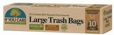 If You Care Trash Bags with Drawstring (10 Bags)