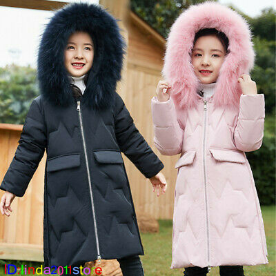 Kids Girls' Parka Coat Jacket Duck Down Padded Outwear Winter Overcoat