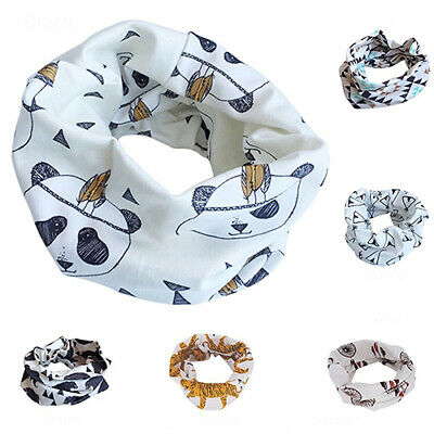 FT- Kids Scarf Winter Soft Cotton Infinity Baby Circle Neck Warmer Snood Scarves