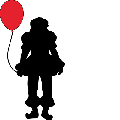 "IT Pennywise Clown Balloon 4""X7"" Vinyl Decal WALL/ LAPTOP/ CAR"