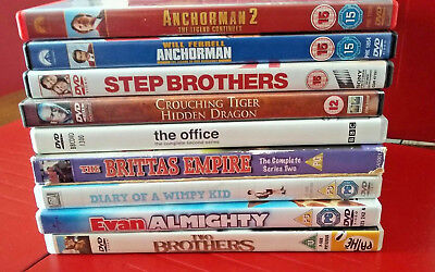 Used - No. 11 Bargain Job Lot of 9 x Comedy & Other Film DVDs - U, PG, 12, 15