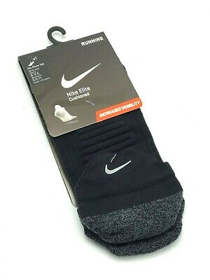 NIKE ELITE CUSHIONED NO-SHOW RUNNING SOCKS Style SX5462-447