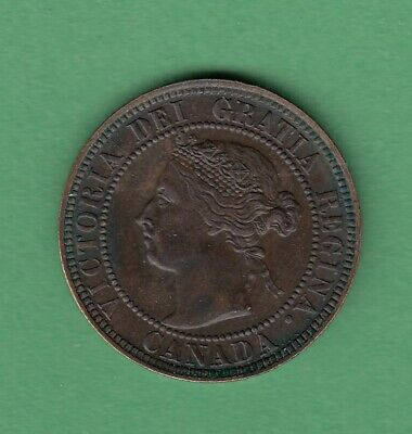 1901 Canadian Large One Cent Coin - EF-40
