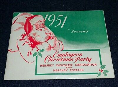 1951 HERSHEY CHOCOLATE Employees Christmas Party 28-Page Souvenir Booklet