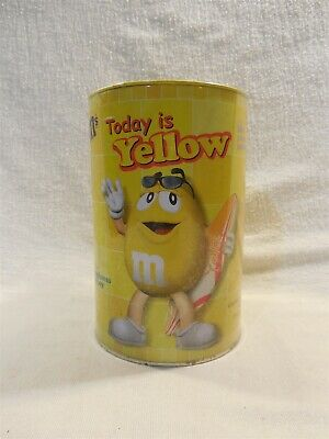 2001 M&M's Foreign Hong Kong Yellow Plush in Can Sealed